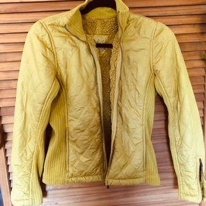 Prana brand Diva Bomber Jacket Sz Sm Rare! Yellow
